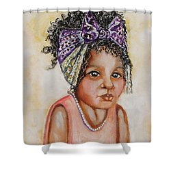 Angel Baby, The Painting Shower Curtain