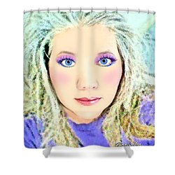 Shower Curtain featuring the photograph Angel Eyes by Barbara Tristan