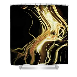 Shower Curtain featuring the photograph Angel Eyes by Pennie  McCracken