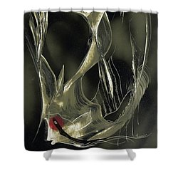 Shower Curtain featuring the painting Angel Fish Abstract by Jason Girard