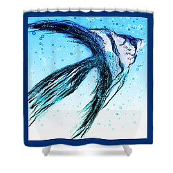 Angel Fish Art Shower Curtain