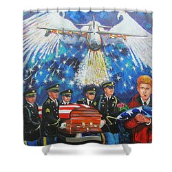Angel Flight Shower Curtain by Ken Pridgeon