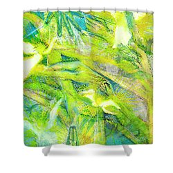 Shower Curtain featuring the painting Angel Forest by Kym Nicolas