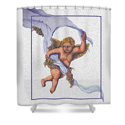 Angel Fresco Shower Curtain