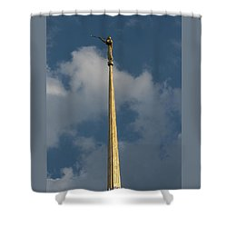 Angel Gabriel In The Sky Shower Curtain