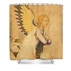 Angel Gabriel  Shower Curtain by Simone Martini