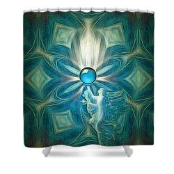 Angel Globe Shower Curtain