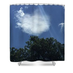 Angel Grace Protection Shower Curtain