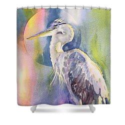 Angel Heron Shower Curtain