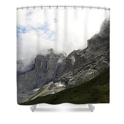 Angel Horns In The Clouds Shower Curtain
