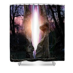 Angel In The Forest Shower Curtain