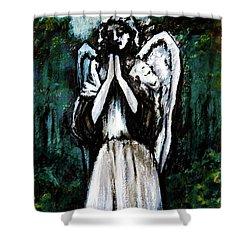 Angel In The Garden Shower Curtain