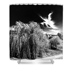 Angel In The Sky Shower Curtain