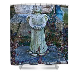 Angel Keokuk Church Shower Curtain