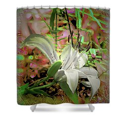 Angel Lily Shower Curtain