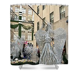 Angel New York City Shower Curtain