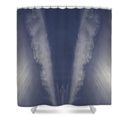 Shower Curtain featuring the photograph Angel Number Nine by Kevin Blackburn