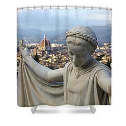 Angel Of Firenze Shower Curtain