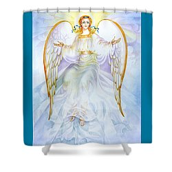 Shower Curtain featuring the painting Angel Of Grace by Karen Showell