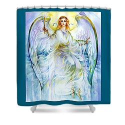 Shower Curtain featuring the painting Angel Of Love by Karen Showell