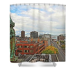 Angel Of Old Montreal Shower Curtain by Alice Gipson
