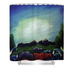 Angel On The Rocks Shower Curtain