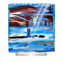 Angel Over Water Shower Curtain