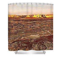 Angel Peak Badlands - New Mexico - Landscape Shower Curtain by Jason Politte