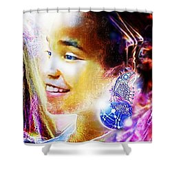 Angel Smile Shower Curtain by Hartmut Jager