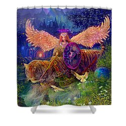 Angel Tarot Card Angel Fairy Dream Shower Curtain