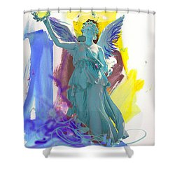 Angel, Victory Is Now Shower Curtain by Amara Dacer
