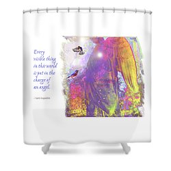 Shower Curtain featuring the photograph Angel Vision by Marie Hicks