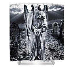 Angelic Light Shower Curtain by Meirion Matthias