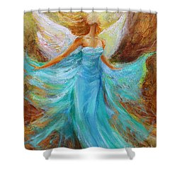 Angelic Rising Shower Curtain by Jennifer Beaudet