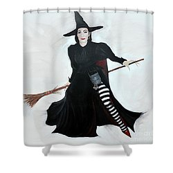 Angelica Houston Bewitched Shower Curtain