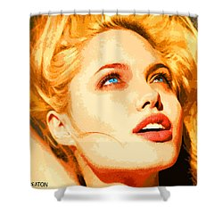 Shower Curtain featuring the digital art Angelina by John Keaton