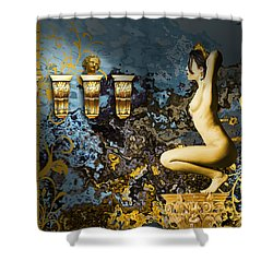 Angelina Salome Shower Curtain by Van Renselar