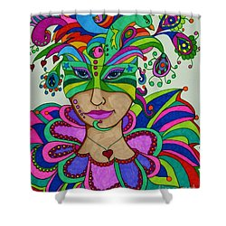 Shower Curtain featuring the painting Angelique by Alison Caltrider