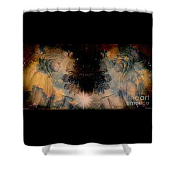 Angels Administering Spiritual Gifts Shower Curtain