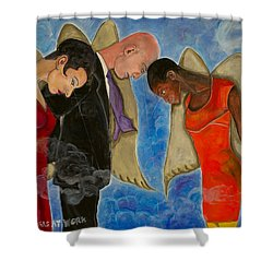 Angels At Work Shower Curtain