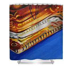Angel's Envy Shower Curtain by Emily Page