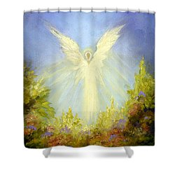 Angel's Garden Shower Curtain by Marina Petro