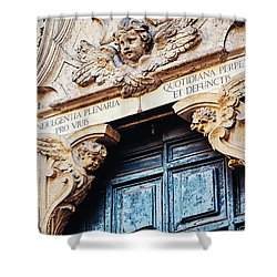 Shower Curtain featuring the photograph Angels In Rome Italy by Melanie Alexandra Price