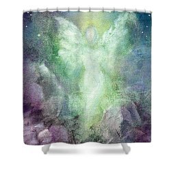 Angels Journey Shower Curtain by Marina Petro