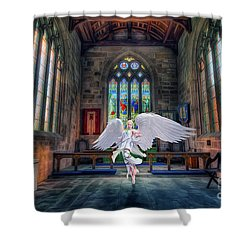 Angels Love And Guidance Shower Curtain