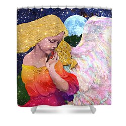Angels Protect The Innocents Shower Curtain by Michele Avanti