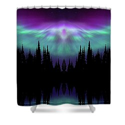Angels Watching Over You Shower Curtain