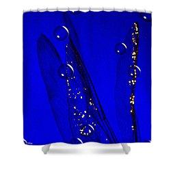 Angels Wings Blue Shower Curtain by Joyce Dickens