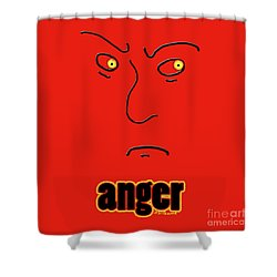 Anger Shower Curtain by Methune Hively