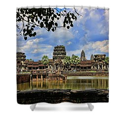 Angkor Wat Panorama  Shower Curtain